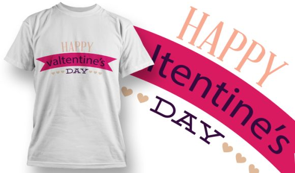 Valentines Day T-Shirt Design 2 T-shirt Designs and Templates vector