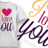 Valentines Day T-Shirt Design 24 T-shirt Designs and Templates vector
