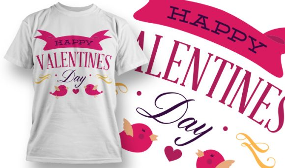 Valentines Day T-Shirt Design 4 T-shirt designs and templates vector