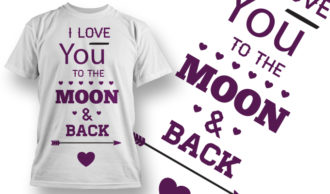 Valentines Day T-Shirt Design 44 T-shirt Designs and Templates vector