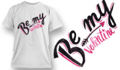 Valentines Day T-Shirt Design 67 T-shirt designs and templates vector