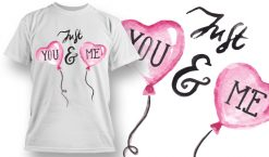 Valentines Day T-Shirt Design 68 T-shirt designs and templates vector