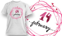 Valentines Day T-Shirt Design 69 T-shirt designs and templates vector