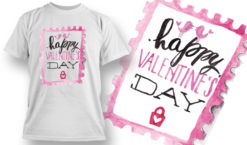Valentines Day T-Shirt Design 73 T-shirt designs and templates vector