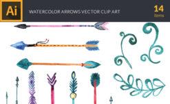 Watercolor Arrows Vector Set 1 Vector packs vector