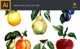 Watercolor Fruits Vector Clipart Watercolor lime