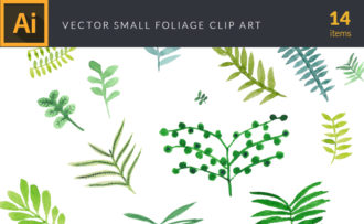 Watercolor Foliage Vector Clipart Watercolor vector