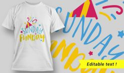 Sunday Funday T-Shirt Design 24 T-shirt designs and templates vector