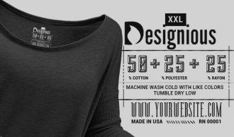 T-shirt Vector Label 3 Freebies vector