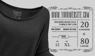 T-shirt Vector Label 4 Freebies vector