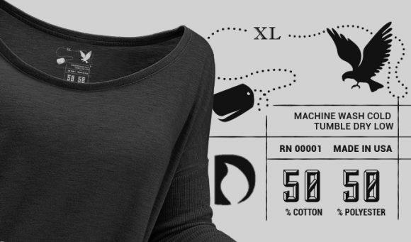 T-shirt Vector Label 5 Typographic Templates vector