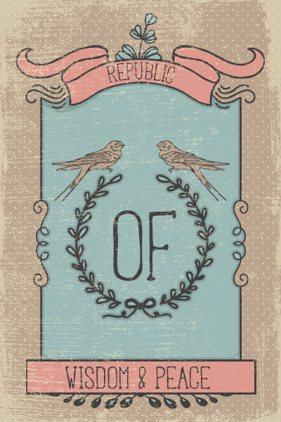 Vector illustration with subtle background and vintage typography 2015 08 129