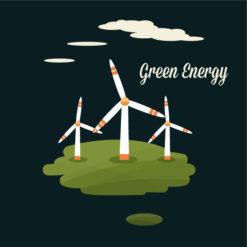 Eco vector illustration Vector Illustrations energy