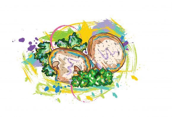 vegetables with grunge vector  illustration 2015 08 14