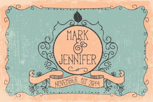 Vector illustration with subtle background and vintage typography 2015 08 147