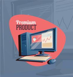 Tech vector illustration Vector Illustrations mouse