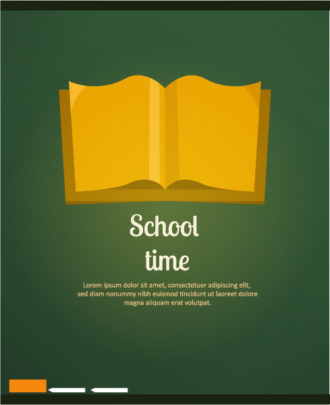 Back to school vector illustration with book Vector Illustrations vector