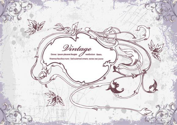 Floral Vector Graphic Vector Vintage Frame  Floral 5