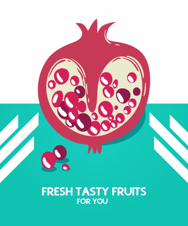 Illustrated flat vector Set Scenes fruit