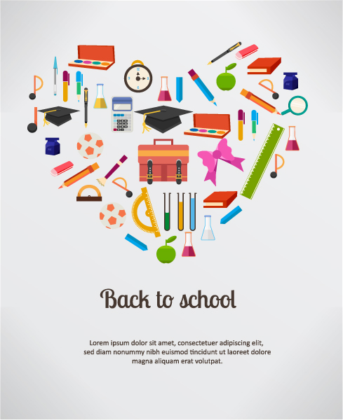 School, Illustration, Hat Eps Vector Back To School Vector Illustration  School Elements 2015 08 19