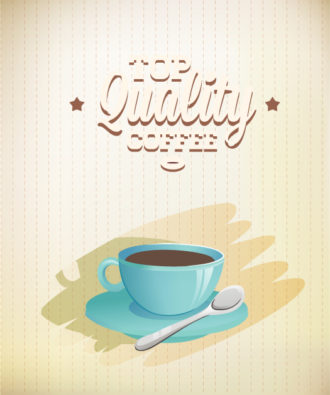 Coffee vector illustration Vector Illustrations vintage
