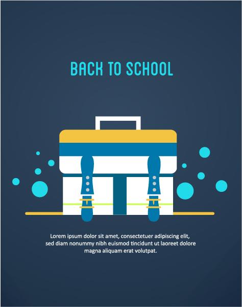 Brilliant To Vector Artwork: Back To School Vector Artwork Illustration With School Bag 5