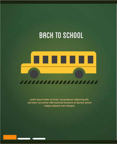Back Eps Vector: Back To School Eps Vector Illustration With School Bus 2015 08 23