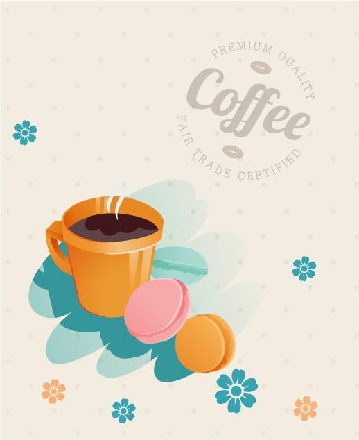 Trendy Coffee Vector Illustration: Coffee Vector Illustration Illustration 5