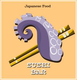 Illustrated flat vector Set Vector Illustrations japanese