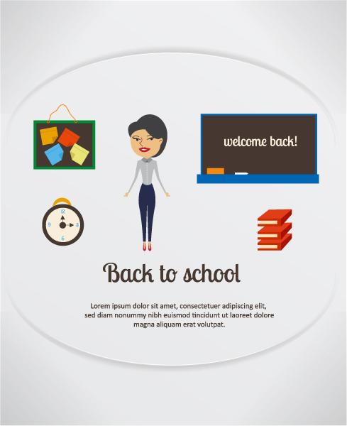 To, Books,  School, Teacher,pinboard Illustration, Back, School Vector Background Back To School Vector Illustration  Pinboard, Clock, School Teacher,pinboard, School Table , Clock  Books 2015 08 24