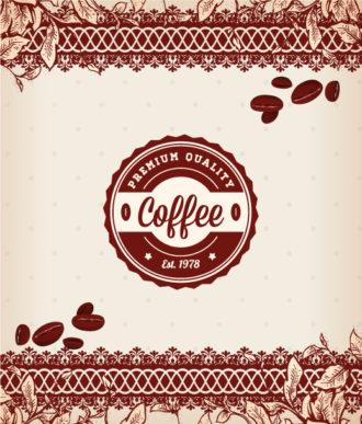 Coffee vector illustration Vector Illustrations vintage