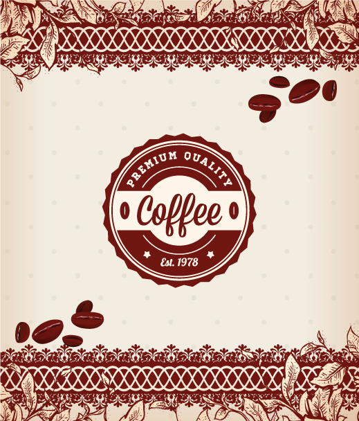 Label Vector Design: Coffee Vector Design Illustration 2015 08 248