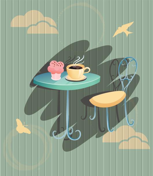 Table Vector Illustration Coffee Vector Illustration 5