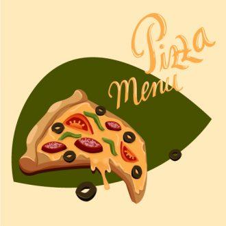 Illustrated flat vector Set Scenes pizza