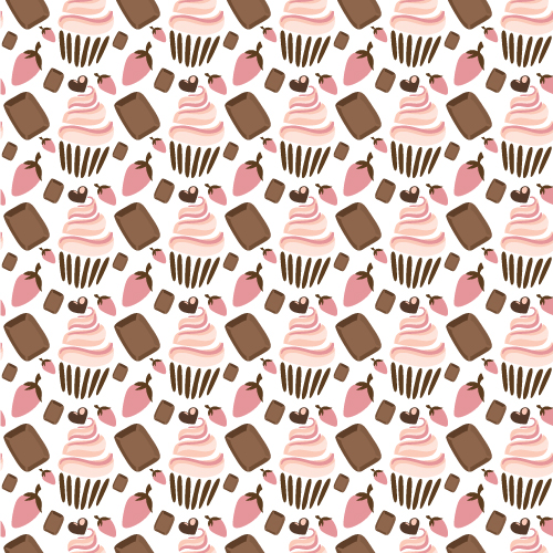 Cupcake Vector Graphic Illustrated Flat Vector Set 2015 08 321