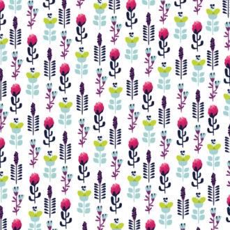 Illustrated flat vector Set Scenes floral