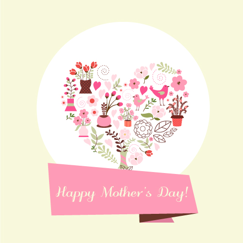 Flat, Mothers-day Vector Design Illustrated Flat Vector Set 1