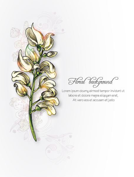 floral background vector illustration 2015 08 374