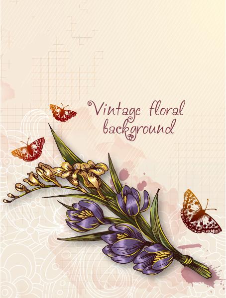 floral vector background 2015 08 378