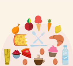 Food vector illustration Vector Illustrations icecream