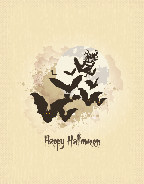 halloween background with bats vector illustration 2015 08 387