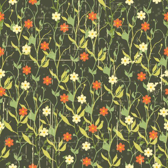 vector seamless floral background 2015 08 398