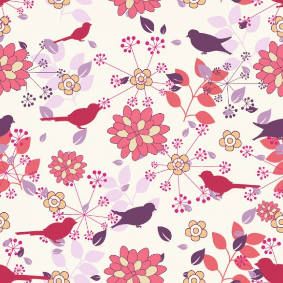 vector seamless floral background 2015 08 405