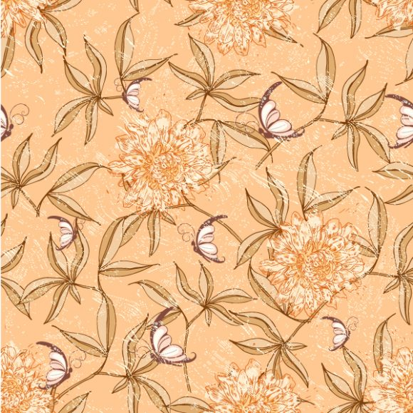 vector seamless floral background 2015 08 406