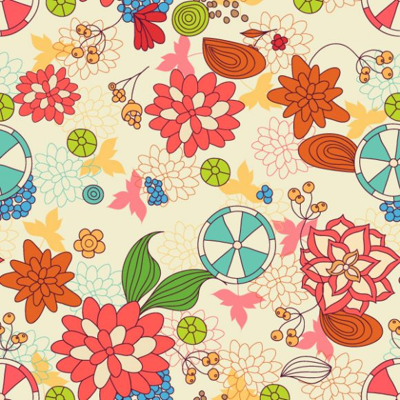 vector seamless floral background 2015 08 407