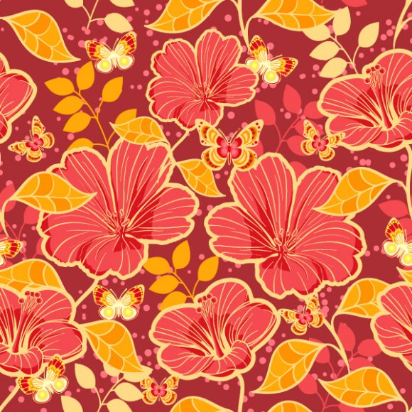 vector seamless floral background 2015 08 408