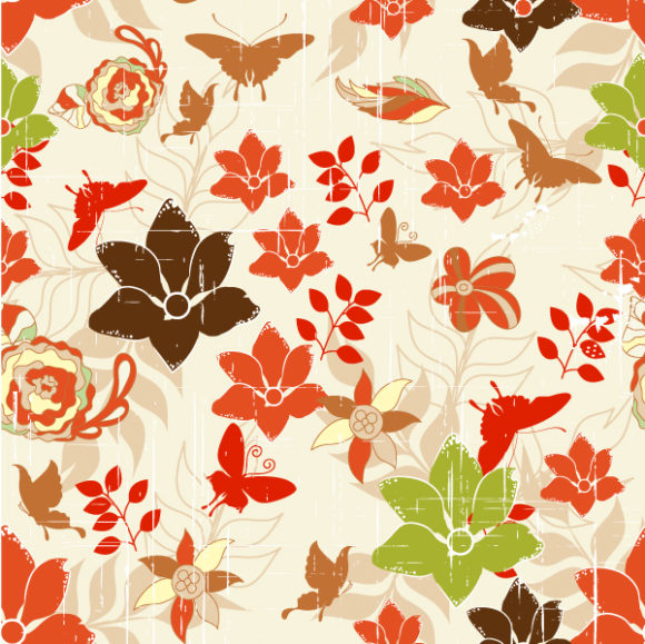 vector seamless floral background 2015 08 409