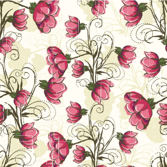 vector seamless floral background 2015 08 410