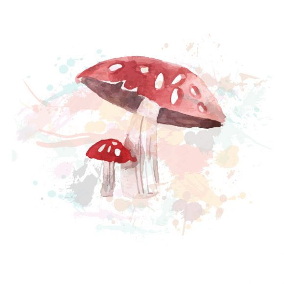 Watercolor vector illustration Vector Illustrations fantasy