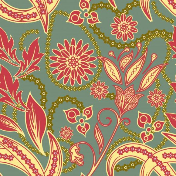 vector seamless pattern with floral 2015 08 427